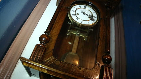 Clock with a pendulum Footage