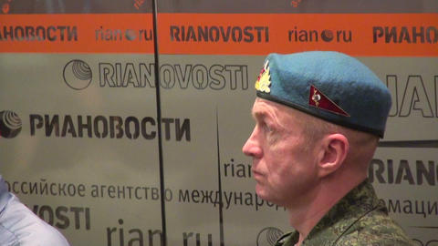 Russian paratrooper in the blue beret Footage