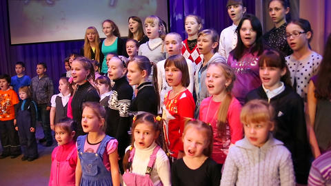 Children's choir Footage