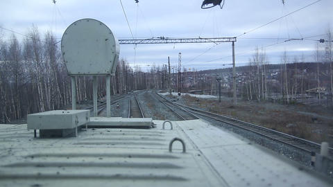 Railway Track. The Rails stock footage