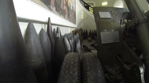 Military artillery gun Footage
