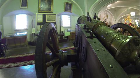 Ancient gun, firing cores Footage