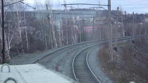 Railway Track. The Rails stock footage