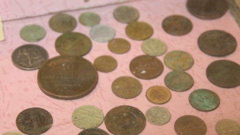 The legacy of Soviet and Russian money. Coins Footage