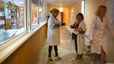 Women Doctors Assauts In The Hospital stock footage