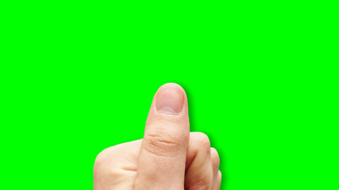 Touchdisplay Greenscreen stock footage