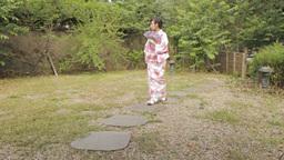 Asian Woman In Kimono
