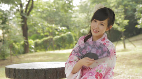 Asian Woman In Kimono 1