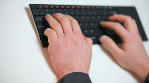 businessman typing on a keyboard Footage
