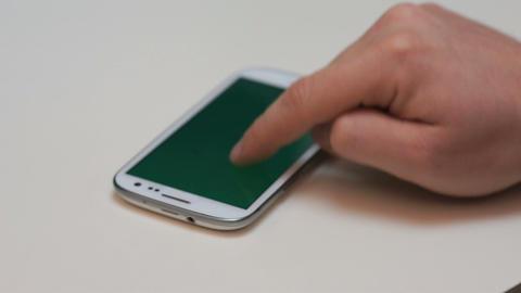Smartphone sideway zoom Footage