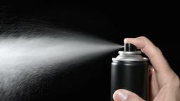 Aerosol Spray Can Footage