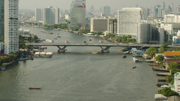 Chao Phraya River in Bangkok, Thailand Time Lapse Footage