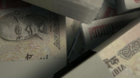 Rupee Notes Pile Pan Animation