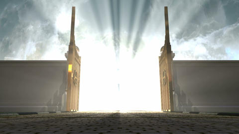 Heavens Gates Opening Resize stock footage