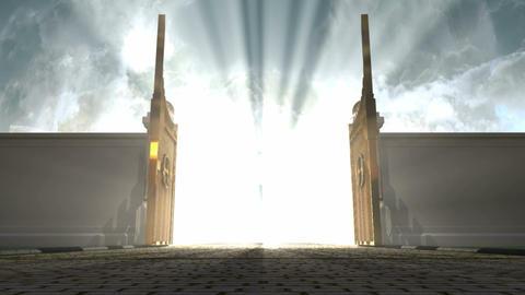 heavens gates opening resize Animation