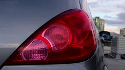 Flashing orange blinker light on rear lamp Live Action