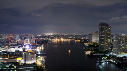 Bangkok Night Time Lapse WIth the Chao Phraya - HD Footage