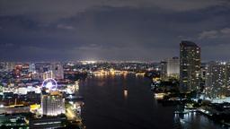 Bangkok Night Time Lapse WIth the Chao Phraya - HD Footage