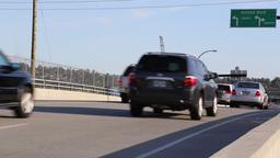 Afternoon Traffic on bridge Footage