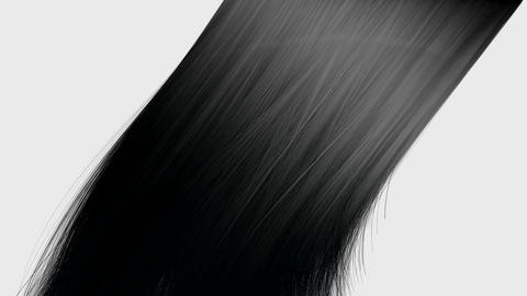 hair blowing black Animation