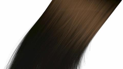 Hair Blowing Brown stock footage