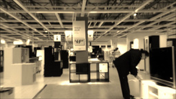 Fast motion with people shopping their furniture Footage