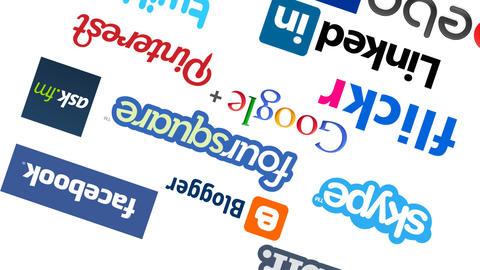 social media platforms loop Animation