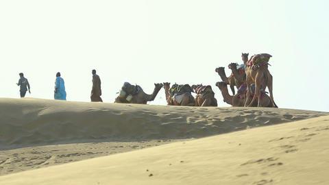 Caravan on a halt Footage