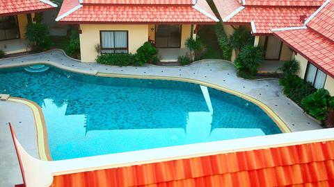 Hotel Pool stock footage