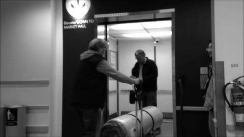 Opening doors in modern elevator Footage