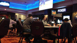 Blackjack game being played at a casino Footage