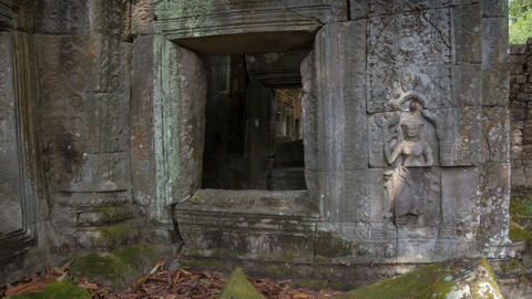 Preah Khan temple slider timelapse Footage