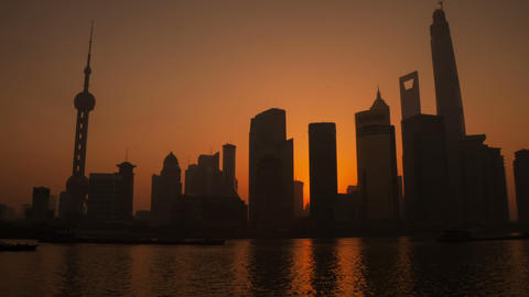 Sunrise in Shanghai timelapse Footage