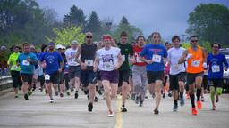 4K Marathon Starting Line Footage