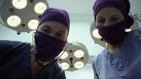 Clinic staff, medical personnel at work, health care workers in hospital Footage