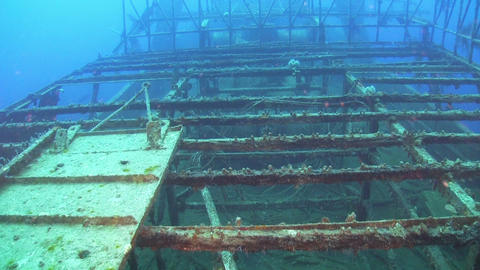 Shipwreck on the Seabed Footage