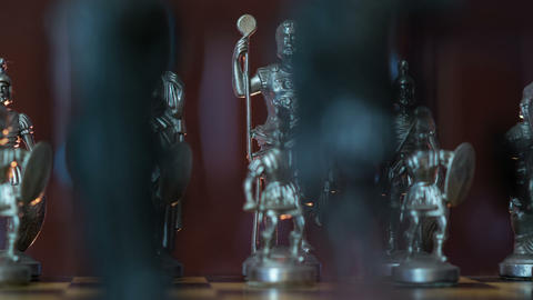chess figures dolly DOV changing background 11358 Footage