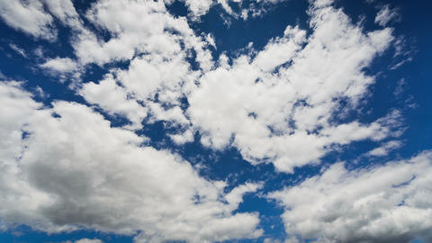 Moving Clouds in the Blue Sky, TimeLapse Footage