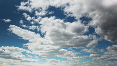 Moving Clouds In The Blue Sky, TimeLapse stock footage
