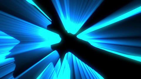 Shimmering laser rays blue vj loop Animation