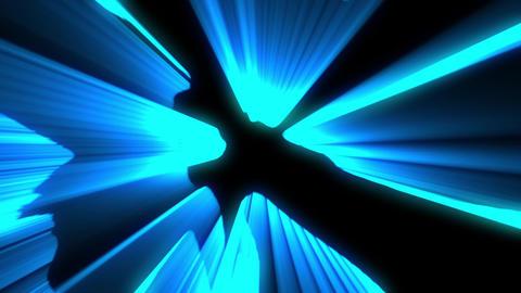 Shimmering laser rays blue vj loop Animation