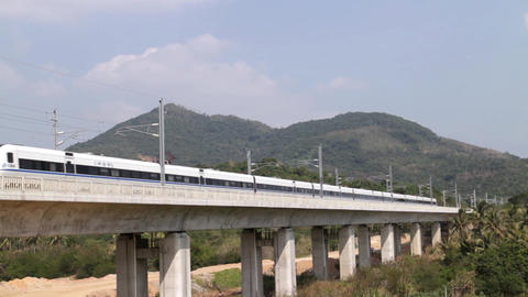 hinese high speed train Footage