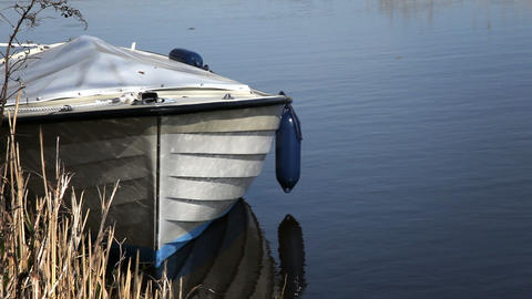Serene Boat stock footage