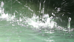 Close-up Water Drops stock footage