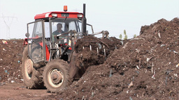 Compost production at recycling plant 6 Footage