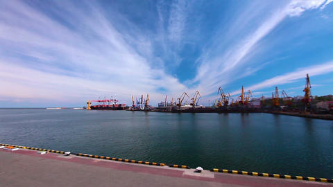 Kind On Freight Marine Port stock footage