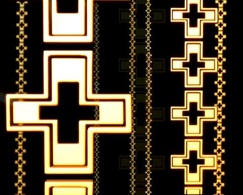 golden cross link Stock Video Footage