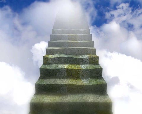 stairway to heaven Stock Video Footage