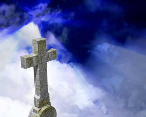 tombstone heavens Stock Video Footage