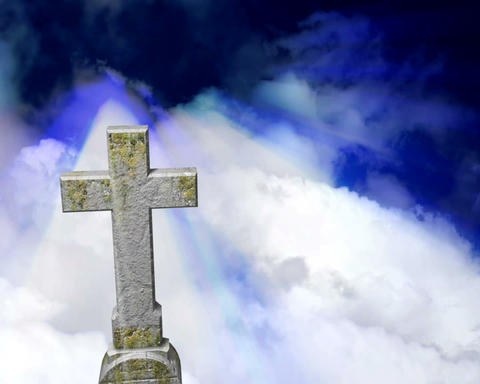 tombstone heavens Stock Video Footage